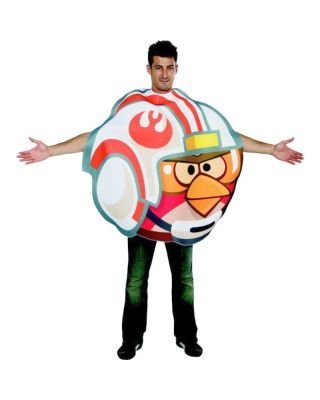 Angry Birds Star Wars Luke Fighter Pilot Adult Costume, Multicolor, One Size -