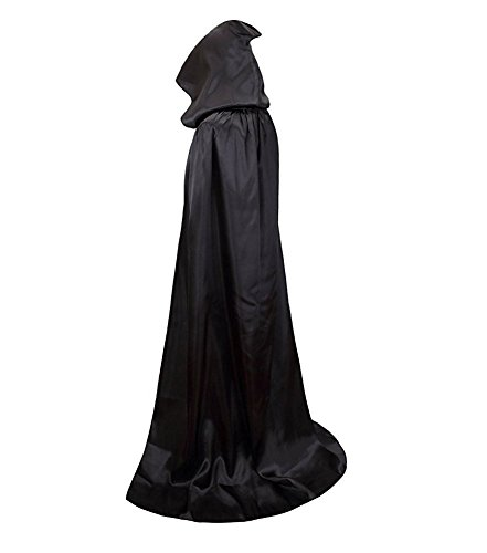 Halloween Costume Capes, Robe Cloak Shawl Halloween Party for Men and Women (S:150, (Gothic Witch Makeup Halloween)