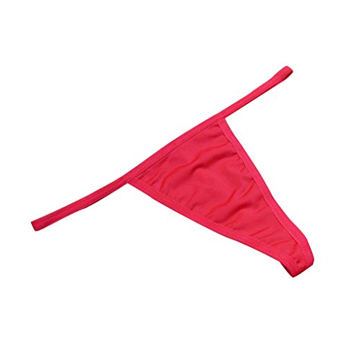 1 / 6pcs Mujeres Bajo Cintura De Color S¨®lido G-String Tongs Sin Costura Underwear Bragas Briefs Rojo