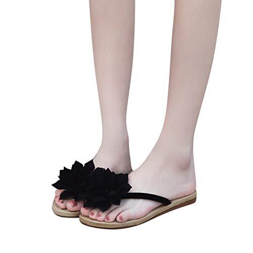 De Bohemio Negro Mujer Ligero Casual Zapatillas Zapatos Riou Para Sandalias Estilo Y Chanclas Moda Verano Comodo Conveniente Planas Playa 1RFwdd6q