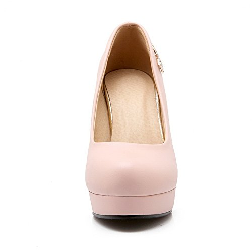 Metal BalaMasa Bowknot Diamond Imitated Womens Shoes Pumps Glass Pink Leather t1OOqgnwr