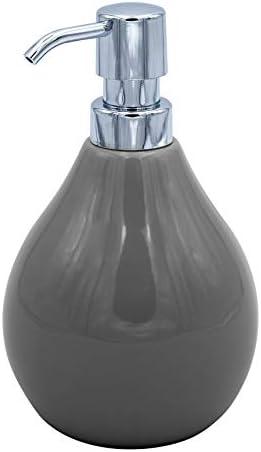 RIDDER Belly Soap Dispenser Ceramic Grey Approx. 10 x 10 x 17 cm