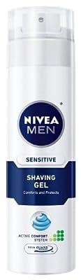 Nivea For Men Sensitive Shaving Gel, 7-Ounce Canister
