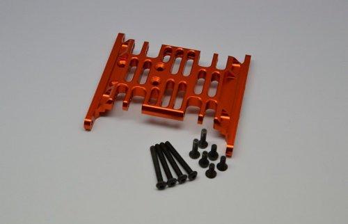 GPM Racing #SCX038BOR Aluminum Center Gear Box Lower Mount - 1Pc Set Orange for Axial SCX10