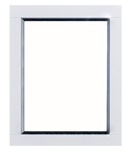 Eviva Evmr412-24x30-Wh Aberdeen 24'' White Framed Bathroom Wall Mirror Combination by Eviva