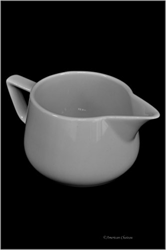 - Small 12oz White Porcelain Gravy Sauce Bowl Boat with Spout & Handle