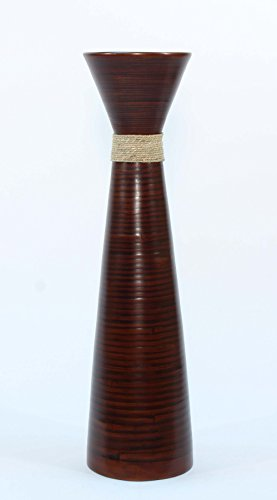 GreenFloralCrafts 36 in.Plantation Brown Bamboo Floor Vase - Floral NOT Included