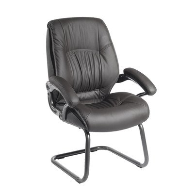 Chair Companion Arm Guest - Techni Mobili Executive High Back Visitor Chair, Black