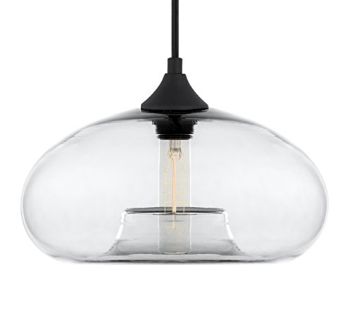 Cassini Clear Glass One Light Pendant Lamp - Linea di Liara LL-P513-CRI