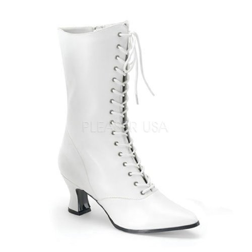 120 (9, White) VIC-120 Granny Boot W (Granny Boots For Women)