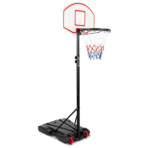 Best-Choice-Products-Kids-Height-Adjustable-Basketball-Hoop-Portable-Backboard-System-Stand-w-2-Wheels-Fillable-Base-Weather-Resistant-Nylon-Net-Multicolor