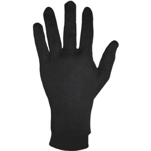 Excellent Black Pure Silk with Nylon Keep Warm Winter Breathable Gloves (Size: XS)