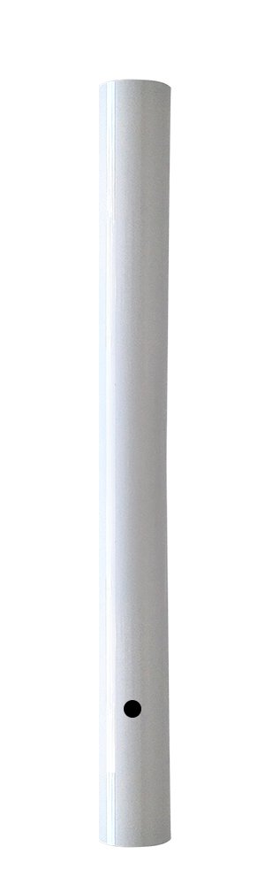 Wellite 72 Inch Outdoor Lamp Post Direct Burial Aluminum Post for Drive Way, White