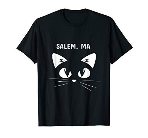 Salem, MA Black Cat Halloween 2018 T-shirt]()
