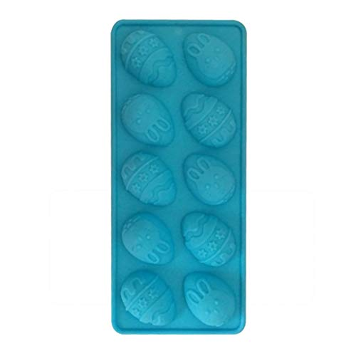 Easter Egg and Bunny Mold - BCDshop Silicone Mold for Jello Chocolate Candy Baking Cupcake Soap Ice Cubes Tray Bakeware for Easter (Blue)]()