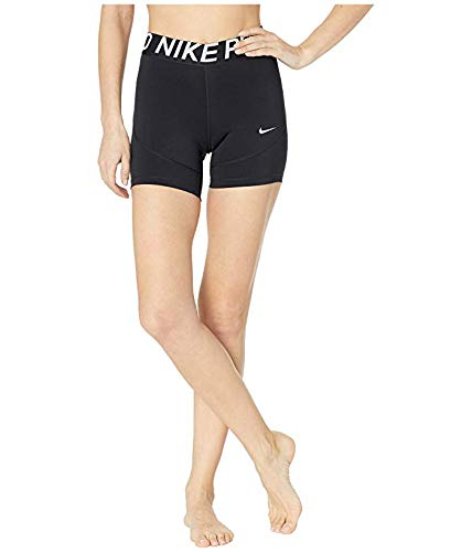 Nike Pro 5'' Compression Shorts,Black/White,Medium by Nike