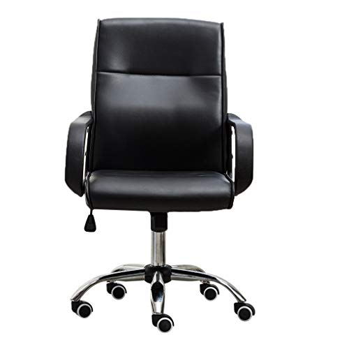 Pollyhb Fashion Adjustable Office Chair, Lift High-Back Casual Swivel Chair Computer Network Chair (A)