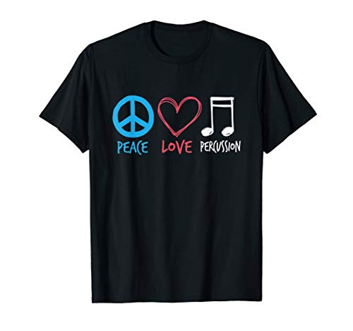 (Drumline TShirt Marching Band Shirt | Peace Love Percussion)