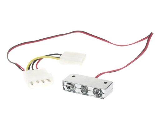 Velleman 272236 PC-Modding-LED, 3-Fach, Grü n PCL1G