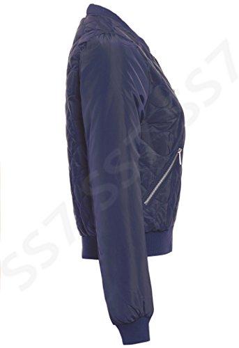 Rembourré Matelassé Ss7 16 Femmes Ma1 Tailles Marine 8 Blouson Bleu Pour gwTBSqB