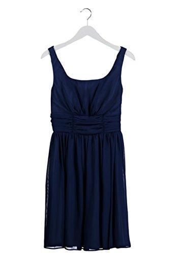 Swing Damen Kleid Cocktailkleid nachtblau Chiffon Gr.36