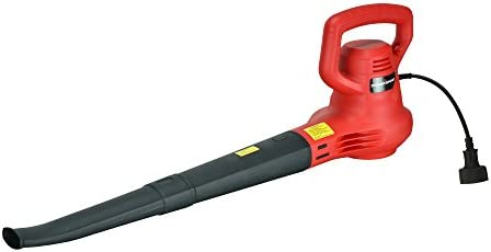 PowerSmart PS8216 7.5 Amp 186 MPH Electric Leaf Blower, red, Black