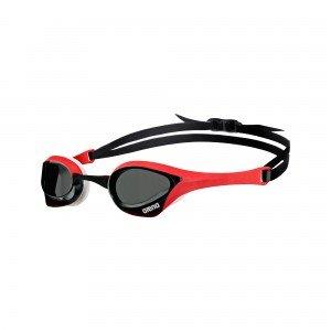 Arena Cobra Ultra Swim Goggle-smoke Lens-red/cadre blanc