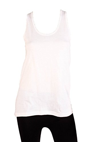 Sofra Womens Loose Scalloped Tank