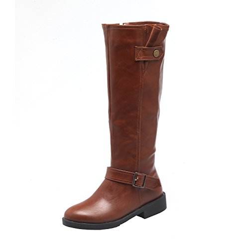 Riding Boots With Zipper - 9