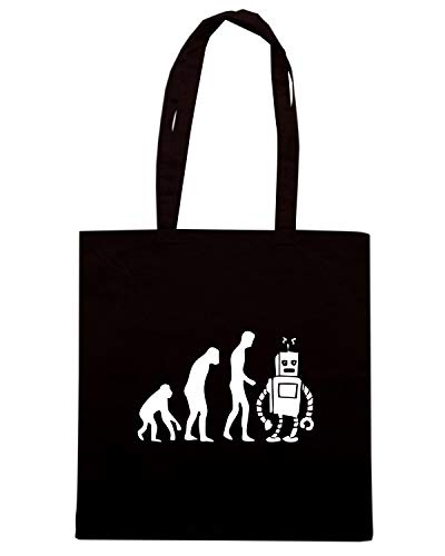 Shirt Borsa Nera EVO0048 Shopper Speed EVOLUTION ROBOT 8qwz4xp8d