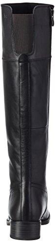 Caprice 25501 - Botas de cuero para mujer Negro(BLACK/GREY 25)