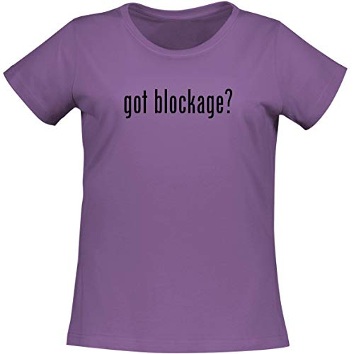 The Town Butler got Blockage? - A Soft & Comfortable Women's Misses Cut T-Shirt, Lavender, XX-Large