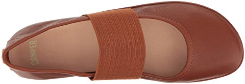 21595 Brown Women's Ballet Camper Right Flat Nina tYwqgq8