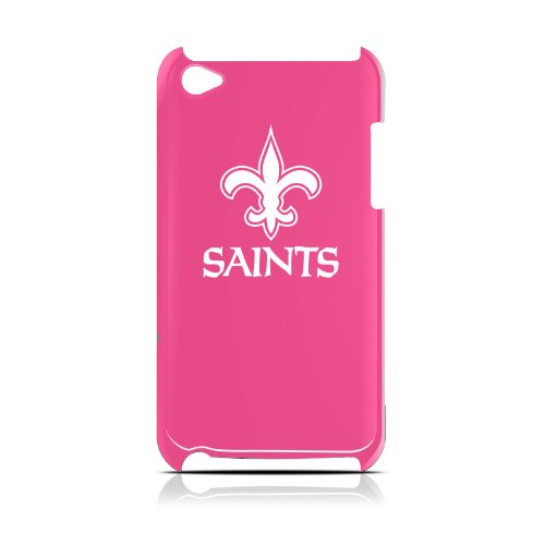 NFL New Orleans Saints Varsity Jacket Hardshell Case for iPod Touch 4G, Pink, 4.4x2.4-Inch