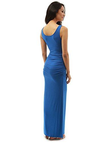 PattyBoutik DR-1087-PP-L - Vestido para mujer azul moderado