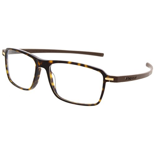 TAG Heuer Designer Eyeglasses Rectangle Unisex Reflex 3 Frames 3952 (Havana Brown)