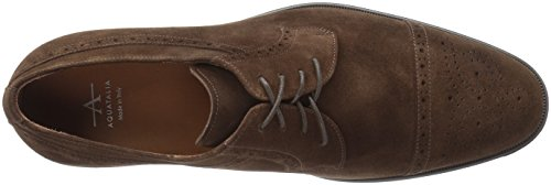 Aquatalia Mens Duke Oxford Arrugginito Marrone