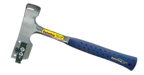 Estwing E3-UL Shingler's Hammer, Solid Steel Milled Face Hammer with Nylon Vinyl Shock Reduction Grip, 2.04-Pound