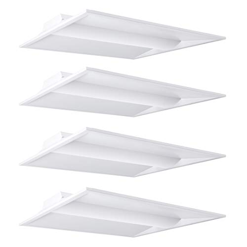 - Hyperikon 2x2 Foot LED Troffer Dimmable, 20W, Recessed Panel Light, 5000k Bright White (4 Pack)