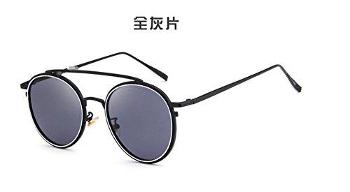sol sol de de Versión Whole gafas sol moda doble gray de GLSYJ coreano metal LSHGYJ gafas en retro color gafas de sheet de haz gafas brillante zxq8FRWaw