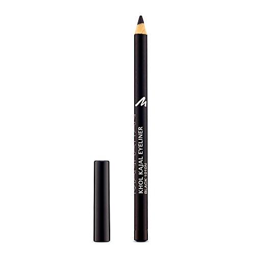Manhattan Khol Kajal Eyeliner, Schwarzer Kohle-Kajalstift für Smokey Eyes und eine Idealen umrandete Augenkontur, Farbe Black 1010N, 1 x 1,3g