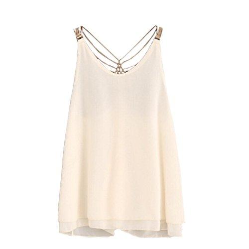 Hot ! Ninasill Exclusive Women Sleeveless Crop Tops Vest Backless Halter Tank Tops Blouse camisole T-Shirt (L, - Women Hot Office