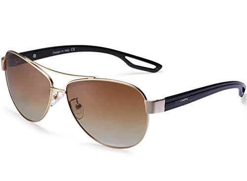 Carfia Polarized Sunglasses for Women 100% UV400 Protection Lightweight Comfort ()