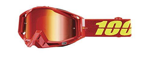 100% Racecraft Men's Off-Road/Dirt Bike Motorcycle Goggles Eyewear - Corvette Red / One Size (Stars Off Road Goggles)