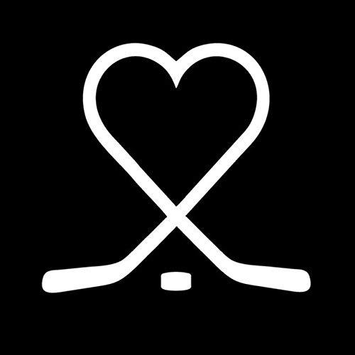 (Scrapbooking Stickers & Sticker Machines, Vinyl Decal Sticker, 1PC 13x14CM Love Ice Hockey Creative Stickers Decals Car Styling Fashion Body Decoration Accessories - White)