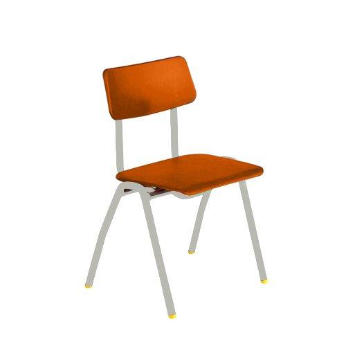 Metalliform bsd-lg-orange standard Classroom sedia con sedile 380mm, arancione