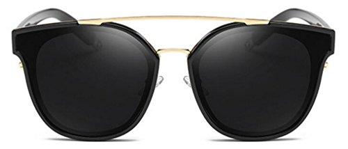 GAMT Retro Metal Polarized Sunglasses Fashion Oversized For Women and Men Black Grey