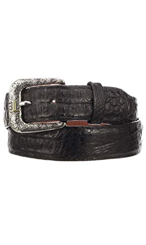 Lucchese Men's Black Hornback Caiman Leather Casual Belt (W9321)
