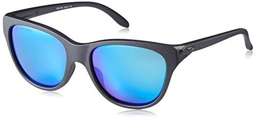 Oakley Women's Hold Out Polarized Iridium Cateye Sunglasses, Steel, 55 - Sunglasses Oakleys Womens