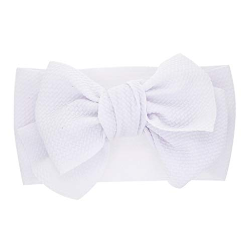 (Baby Girls Headbands Baby Head Wraps Baby Headbands and Bows Chiffon Flower (White))